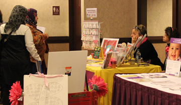 photo of Participants browsing at vendor booth